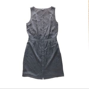 Theory Harida button down silk dress sz 2